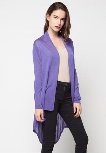 VOYANT BY MEGUMI purple Cardigan Ringgo Waterfall VO505AA16YMHID_1
