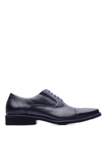 Life8 black MIT Casual Square Toe Leather Shoes-09231-Black LI283SH15KVSSG_1