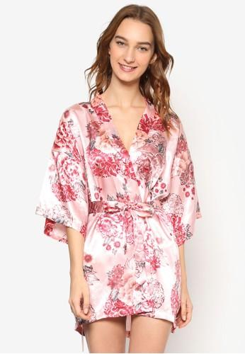 印花開襟睡袍, 服飾esprit台灣, 服飾