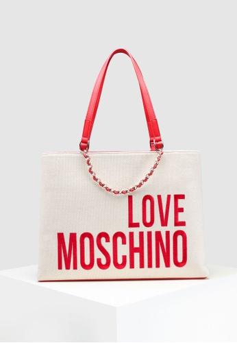 f194cda7041 Buy Love Moschino Canvas Tote Bag Online on ZALORA Singapore