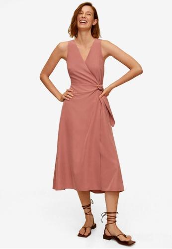 Mango pink Modal Wrap Dress C9DAFAAC4DE1C4GS_1