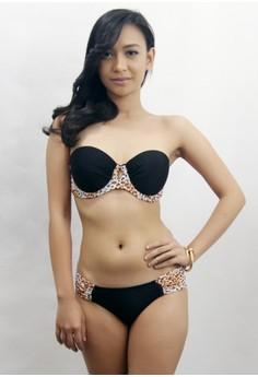 Chanel Two Piece Leopard Swimsuit