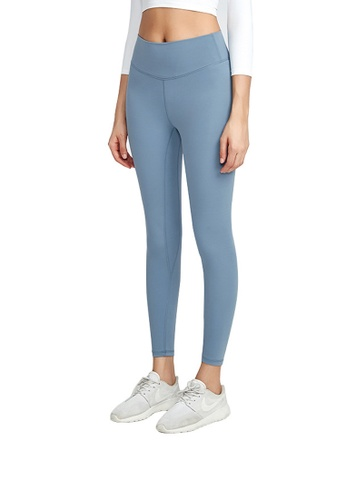 B-Code blue ZWG1115a-Lady Quick Drying Running Fitness Yoga Leggings-Blue 03BC0AA81EED6CGS_1