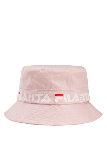 e11d1ab6ea15a Buy Fila FILA Logo Bucket Hat Online on ZALORA Singapore