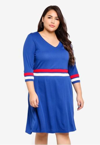 Junarose blue Plus Size Ariel Dress A8B5CAA550F182GS_1