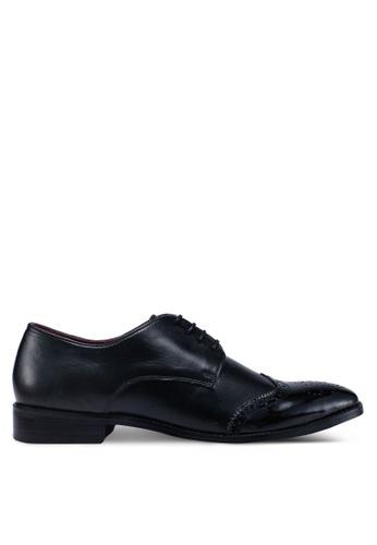 Acuto black Leather Brogue Shoes 92C3ASH1EA1F5BGS_1