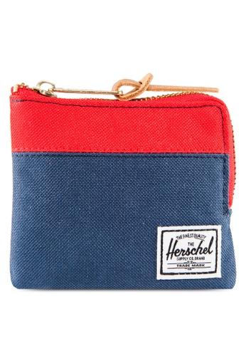 Herschel red and blue Johnny Zip Wallet HE305AC02YIJSG_1