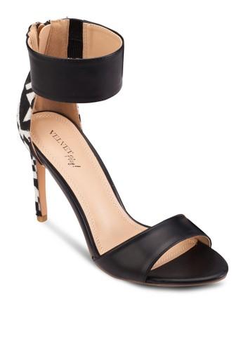 Play! Izzzalora 內衣y 民族風邊飾繞踝高跟鞋, 女鞋, 鞋
