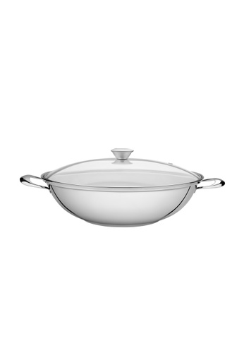 Tramontina silver Tramontina 34cm stainless steel wok with Triple-ply bottom 5981DHL2DEEC2AGS_1