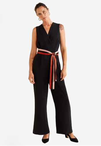 15233b0fe05 Buy Mango Belt Detail Jumpsuit Online on ZALORA Singapore