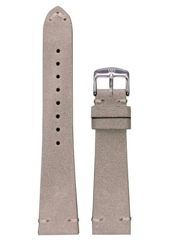 Undone grey and silver Undone Light Grey Calf Leather Strap 20mm (Silver Buckle) UN712AC2VEJDHK_1