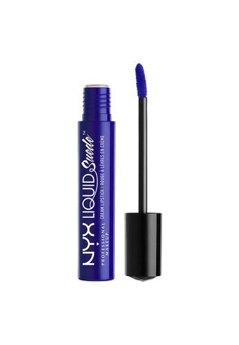 NYX Professional Makeup blue NYX Professional Makeup Liquid Suede Cream Lipstick - JET SET E2B0ABE0E06F65GS_1