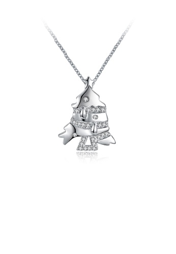 Glamorousky white Elegant Fashion Fish Cubic Zircon Pendant and Necklace F1B17AC2E9445DGS_1