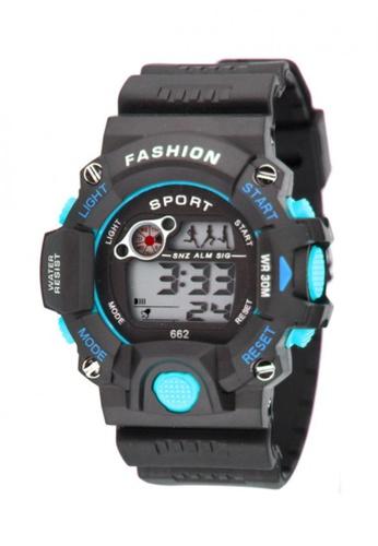 Dooka blue Multifunction 662 digital sports wrist watch DO079AC32MFVPH_1