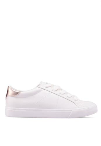 Mango white Contrast Applique Sneakers 57E06SH243FF6BGS_1