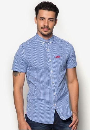 esprit服飾格紋短袖襯衫, 服飾, 服飾