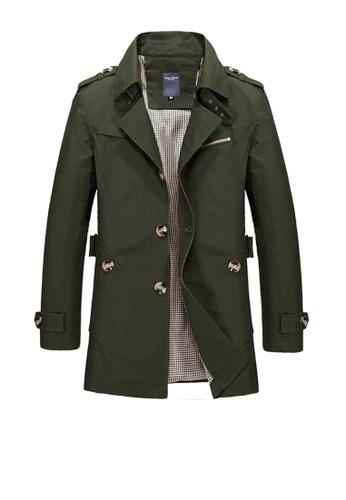 Twenty Eight Shoes green VANSA Fashion Washed Windbreaker Coat VCM-C1306 38BC9AA1330A9FGS_1