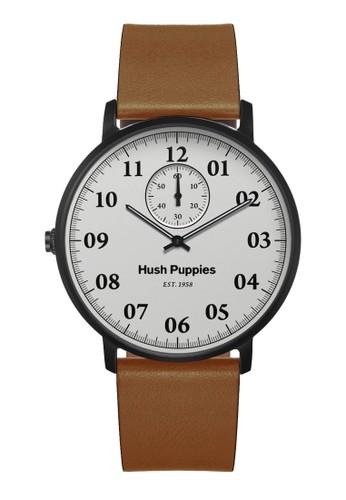 Hush Puppies Watches brown Hush Puppies 1958 Men's Watch HP 3854M.2501 White Brown Leather HU334AC0UHK6ID_1