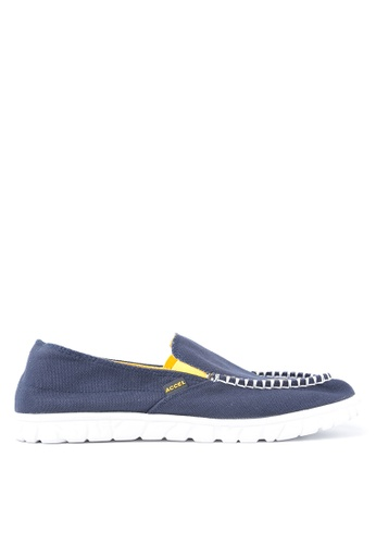 ACCEL white and yellow and navy Stryder Loafers AC958SH96KRZPH_1