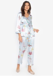FEMINISM blue Robe Set A9AB0AAC825518GS_1