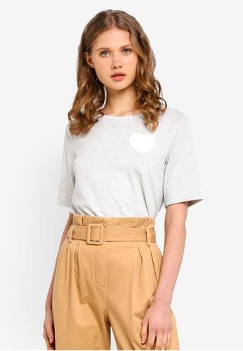 ESPRIT grey Heart Short Sleeve T-Shirt 4DC34AAF3A1EC1GS_1