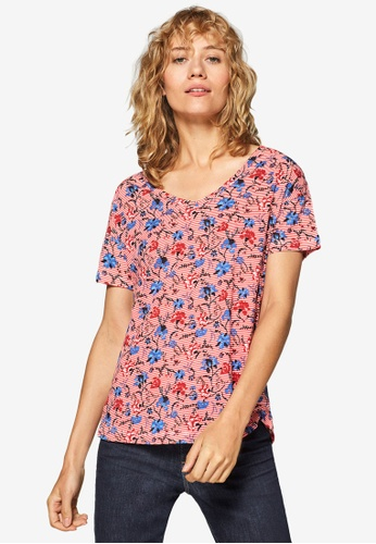 ESPRIT red Short Sleeve T-Shirt EFE59AA76B9460GS_1