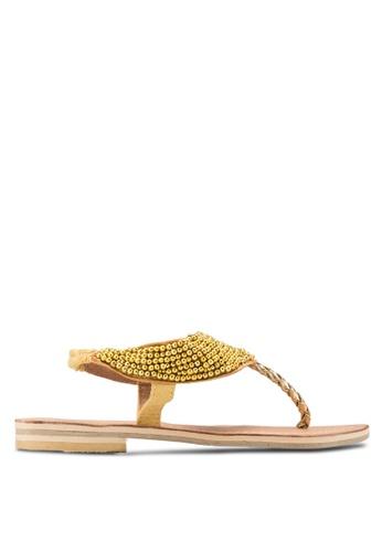 Sulima gold Cleo Sandals SU915SH59XVGMY_1