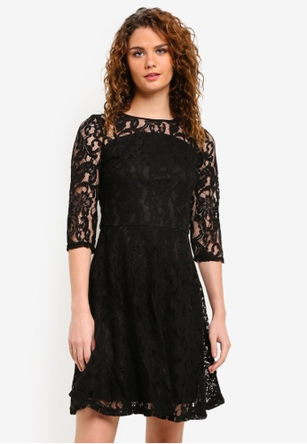 Dorothy Perkins black Black Lace Fit & Flare Dress DO816AA0RMYLMY_1