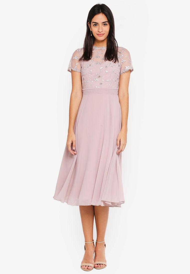 3D Mink Midi Dress Floral Little Mistress xq6TgOFxw