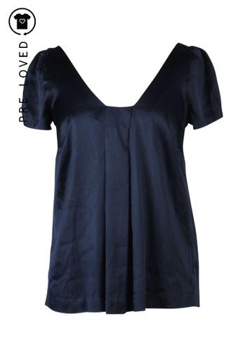 Rebecca Taylor blue Pre-Loved rebecca taylor Blue Navy Top 20123AA781E8BFGS_1