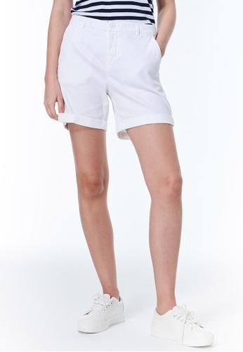 United Colors of Benetton white Stretch Shorts 74E6DAA910E60DGS_1