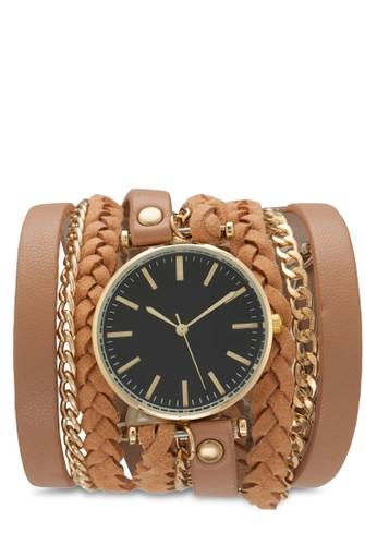 三層仿皮鍊式纏繞手錶, 錶esprit 評價類, 飾品配件