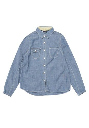 Giordano multi Denim Shirt Girls 48CA6KA121B4ECGS_1
