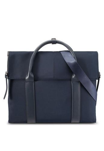 ZALORA navy Zippered Flap Work Bag 2CEA5AC573A6D4GS_1