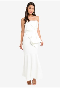 34703fb9c4 20% OFF Miss Selfridge Petite Ivory Fan Bardot Maxi Dress S$ 173.00 NOW S$  138.90 Sizes 4 6 8 10 12