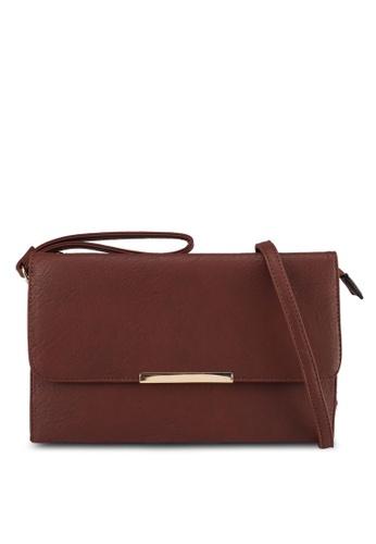 Perllini&Mel brown Faux Leather Clutch Wristlet A8600ACE1D14C8GS_1