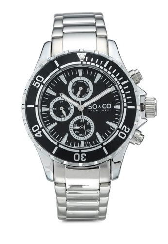 SO&CO black Yacht Timer 5038 1B7F5AC5A47554GS_1