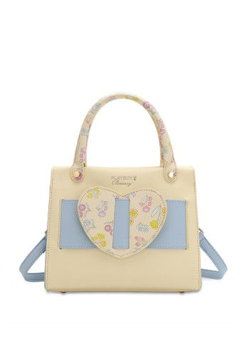 PLAYBOY BUNNY yellow Heart Detail Top Handle Sling Bag 51AD4AC10ACD2AGS_1
