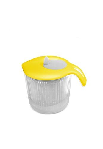 Biesse Casa Biesse Casa Manual Vegetable Drain Basket / Salad Spinner / Vegetable Strainer / Vegetable Washing Basket /  - Yellow / Orange 96705HLF3D1EDAGS_1