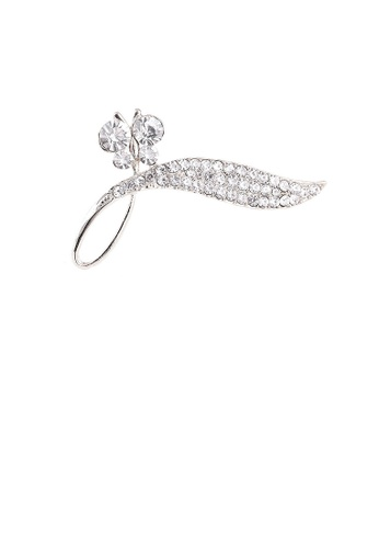 Glamorousky white Bright and Elegant Butterfly Leaf Brooch with Cubic Zirconia 78969ACDE5B377GS_1