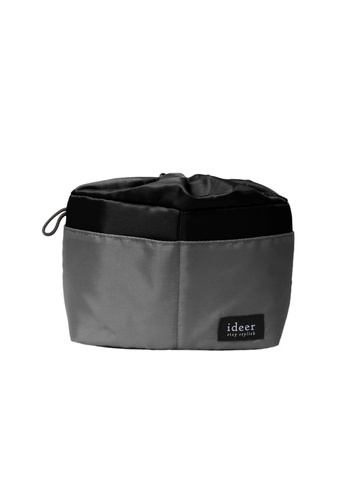 ideer black and grey Casey Sesame - Grey Padded Camera Bag Insert With Dividers ID960AC17OVQHK_1