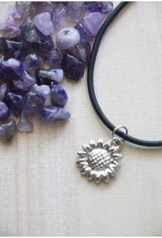 Sunflower choker necklace