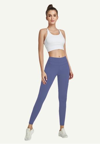 B-Code blue ZWG7002Lady Quick Drying Running Fitness Yoga Sports Leggings -Blue 0FE16AAFE24143GS_1
