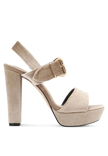 Something Borrowed beige Peeptoe Platform Chunky Heel 97E8FSH7C5A65EGS_1