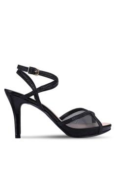 22597c6b91c DMK black Sexy Mesh Heels A29E1SH130C909GS 1