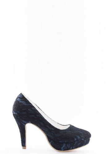 Kings Collection 藍色 花邊高跟鞋 KI513SH47UCITW_1