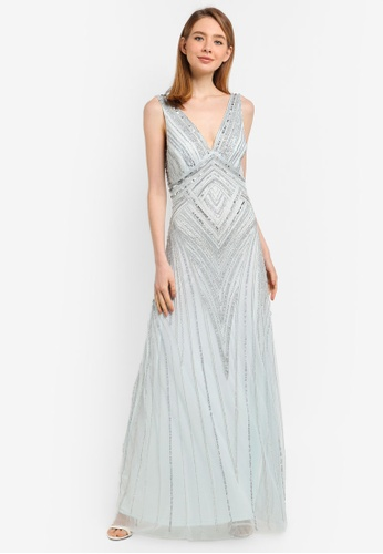 a82b83e94 Shop Frock and Frill Teona Sequin Maxi Dress Online on ZALORA ...