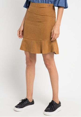 Lois Jeans brown Suede Skirt 1ACD3AA7ECF168GS_1