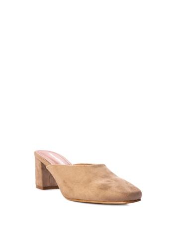 ef0f88b55df Shop Rock Rose Block Heel Mules Online on ZALORA Philippines