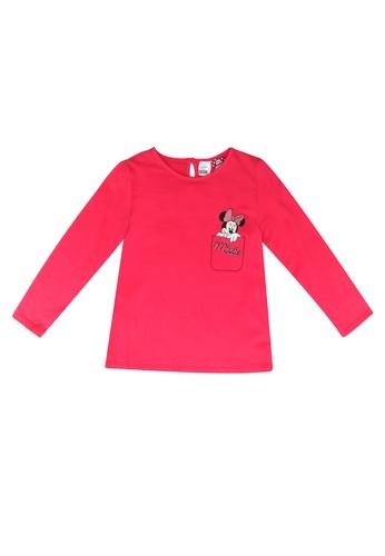 LC Waikiki pink Baby Girl's Mickey Mouse Printed T-Shirt C07EBKA2AB97D2GS_1